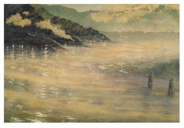 fine art note card, Winslow Harbor
